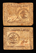 Colonial Notes:Continental Congress Issues, Two Continental Currency Notes.. ... (Total: 2 notes)