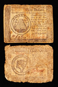 Colonial Notes:Continental Congress Issues, Continental Currency September 26, 1778 $8 and $50.. ... (Total: 2notes)