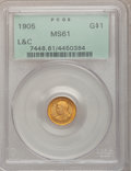 Commemorative Gold, 1905 G$1 Lewis and Clark MS61 PCGS....