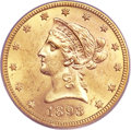 Liberty Eagles, 1893-S $10 MS63 PCGS....