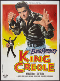 """King Creole (Paramount, R-1978). French Grande (47"""" X 63""""). Elvis Presley"""
