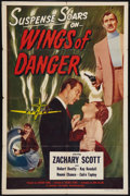 "Movie Posters:Adventure, Wings of Danger (Lippert, 1952). One Sheet (27"" X 41""). Adventure....."