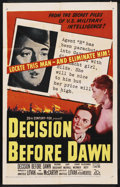"Movie Posters:War, Decision Before Dawn (20th Century Fox, 1951). One Sheet (27"" X 41""). War. ..."