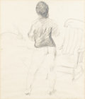 Fine Art - Painting, American:Contemporary   (1950 to present)  , ALEXANDER BROOK (American, 1898-1980). The Empty Chair.Graphite on paper. 19in. x 16-1/4in.. Signed at lower rightAl... (Total: 1 Item)