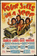 "Movie Posters:War, Four Jills in a Jeep (20th Century Fox, 1944). One Sheet (27"" X 41""). War. Starring Kay Francis, Carole Landis, Martha Raye,..."