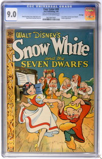 Four Color #49 Snow White and the Seven Dwarfs - File Copy (Dell, 1944) CGC VF/NM 9.0 Cream to off-white pages
