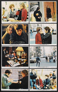 """The Panic in Needle Park (20th Century Fox, 1971). Lobby Card Set of 8 (11"""" X 14"""") and Ad Slick (8.5"""" X 9..."""