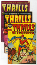 Golden Age (1938-1955):Science Fiction, Thrills of Tomorrow #17-19 Group (Harvey, 1954-55) Condition:Average VG+.... (Total: 3 Comic Books)