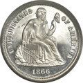 Proof Seated Dimes, 1866 10C Dime PR66 Deep Cameo PCGS. Ahwash-1....