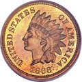 Proof Indian Cents, 1868 1C Cent PR64 Red and Brown PCGS....