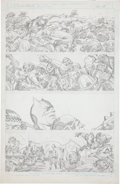 Original Comic Art:Panel Pages, Jack Kirby Super Powers #5 Batman and Robin page 13 PencilsOriginal Art (DC, 1986)....