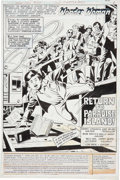 Original Comic Art:Splash Pages, Jose Delbo and Wally Wood Wonder Woman #269 Splash page 1Original Art (DC, 1980)....