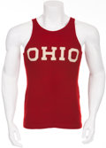 Miscellaneous Collectibles:General, Circa 1935 Jesse Owens Race Worn Ohio State Track Jersey....