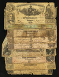 Confederate Notes:Group Lots, Confederate Notes and a Georgia Note Fair or Better.. ... (Total: 9notes)
