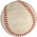 Autographs:Baseballs, 1961 Roger Maris Single Signed Baseball from Day He Tied BabeRuth....