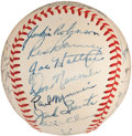 Autographs:Baseballs, 1949 Brooklyn Dodgers Team Signed Baseball....