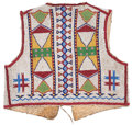 American Indian Art:Beadwork and Quillwork, A SIOUX CHILD'S BEADED HIDE VEST. c. 1890...