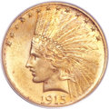 Indian Eagles, 1915-S $10 MS63 PCGS. CAC....