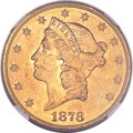 Liberty Double Eagles, 1878-S $20 MS62 NGC. CAC....