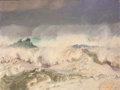 Mainstream Illustration, MCCLELLAND BARCLAY (American, 1891-1943). Pounding Surf. Oilon canvas. 30 x 40 in.. Signed lower right. From the Es...