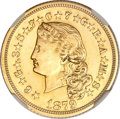 Proof Four Dollar Gold Pieces, 1879 $4 Flowing Hair, Judd-1635, Pollock-1833, R.3--Repaired, Harshly Cleaned--NGC Details. AU....