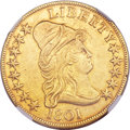 Early Eagles, 1801 $10 --Improperly Cleaned--NGC Details. XF. BD-2, R.2....