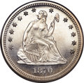 Proof Seated Quarters, 1870 25C Quarter PR64 PCGS....