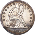 Proof Seated Dollars, 1862 $1 Seated Dollar PR61 PCGS....