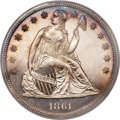 Proof Seated Dollars, 1861 $1 Seated Dollar PR64 PCGS....