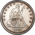 Proof Seated Quarters, 1860 25C Quarter PR64 Cameo PCGS....