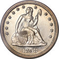 Proof Seated Quarters, 1858 25C Quarter PR64 Cameo PCGS....