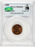 Proof Indian Cents, 1889 1C PR65 Red PCGS. Eagle Eye Photo Seal. CAC....
