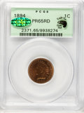 Proof Indian Cents, 1894 1C PR65 Red PCGS. Eagle Eye Photo Seal. CAC....