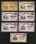 Obsoletes By State:Ohio, Orwell, OH- C.A.B. Pratt/Bank of Geauga 10¢ (5); 25¢ (2) 1863. ...(Total: 7 notes)
