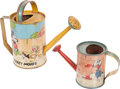 Memorabilia:Disney, Disney Character Toy Tin Sprinkling Can Group (Ohio Art Co., 1938).... (Total: 2 Items)