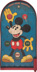 Memorabilia:Disney, Mickey Mouse Bagatelle Game Board (Marks Brothers, 1934)....