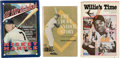 Baseball Collectibles:Publications, Mickey Mantle, Willie Mays and Duke Snider Signed Hardcover BooksLot of 3....
