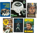 Football Collectibles:Publications, NFL Stars Signed Hardcover Books Lot of 6....