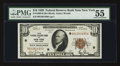 Fr. 1860-B $10 1929 Federal Reserve Bank Note. PMG About Uncirculated 55