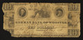 Obsoletes By State:Ohio, Wooster, OH- German Bank of Wooster $10 Aug. 6, 1838. ...