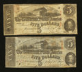 Confederate Notes:1863 Issues, T60 $5 1863.. ... (Total: 2 notes)