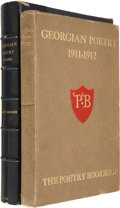 Books:First Editions, [D. H. Lawrence, G. K. Chesterton and others]. Georgian Poetry1911-1912. London: The Poetry Bookshop, [1912]. F...
