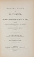 Books:First Editions, [British Regiments]. Richard Cannon. Historical Record of theTwentieth, or the East Devonshire Regiment of Foot. Lo...