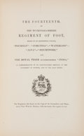Books:First Editions, [British Regiments]. Historical Record of the Fourteenth, or,the Buckinghamshire Regiment of Foot. London: Parker, ...