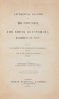 Books:First Editions, [British Regiments]. Richard Cannon. Historical Record of theForty-Sixth, or the South Devonshire, Regiment of Foot. ...
