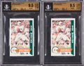 Football Cards:Lots, 1986 Dolphins Police Dan Marino Cards BCG Gem Mint 9.5 Lot of 2....