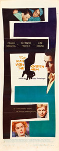 """Movie Posters:Drama, The Man With the Golden Arm (United Artists, 1955). Insert (14"""" X36"""").. ..."""