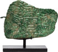 Antiques:Antiquities, Maya Jade Pendant with the Face of a Personage...