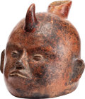 Antiques:Antiquities, Vessel in the Form of a Shaman's Head...