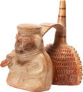 Antiques:Antiquities, Sican Figure Holding a Duck...